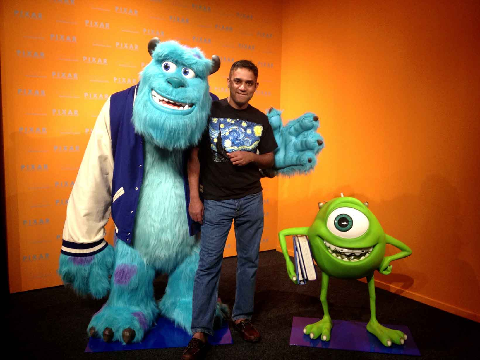 Sean with Monsters Inc